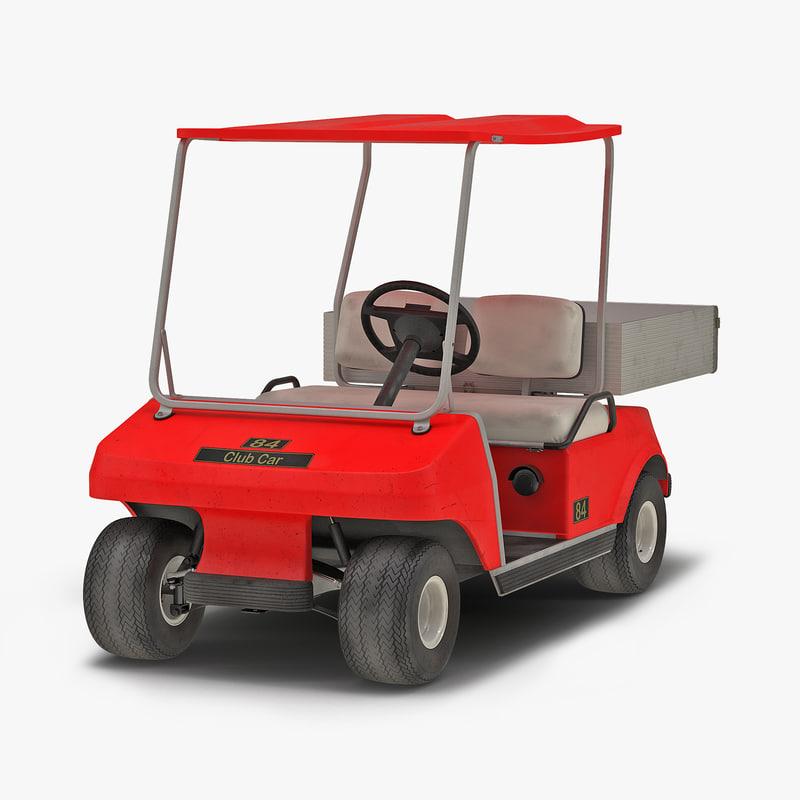 Golf Cart Red 3d model 00.jpg
