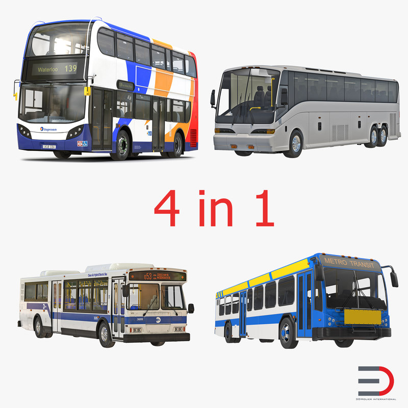 Buses Collection 3d models 00.jpg