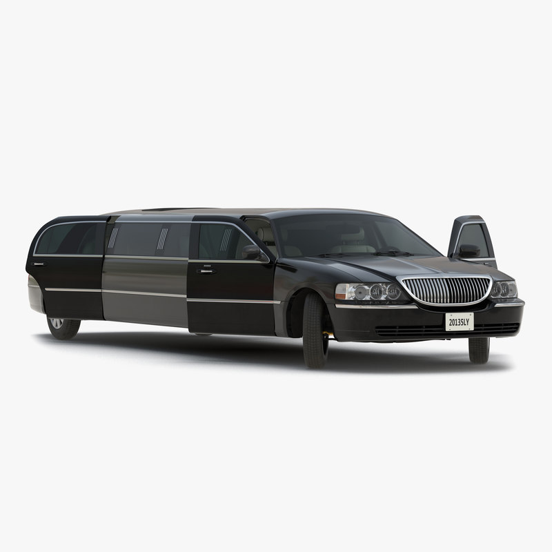 3d model of Generic Limousine Black Rigged 00.jpg