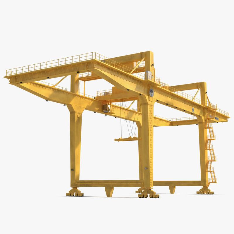 Rail Mounted Gantry Crane : Rail mounted gantry container crane d model
