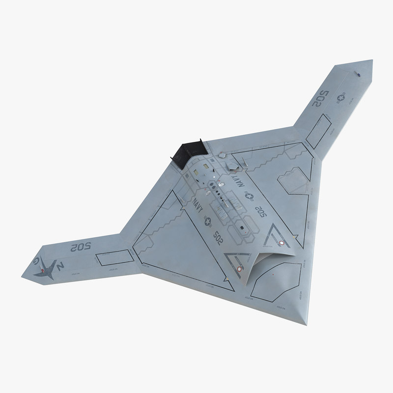 3d model of Northrop Grumman X-47B UAV 00.jpg