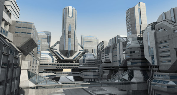 Futuristic City 01 3D Models