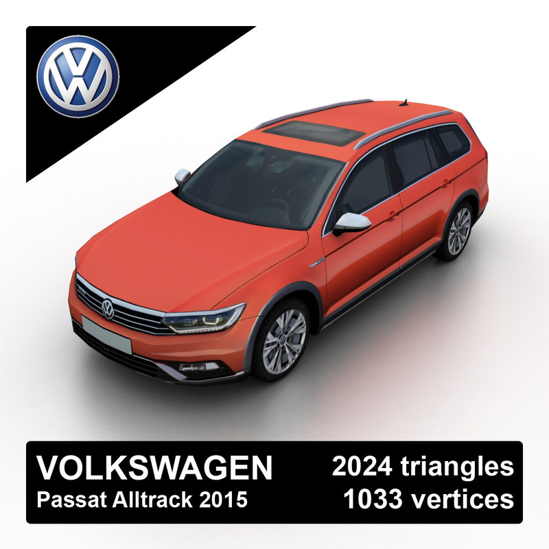 2015 passat alltrack 3d max. Black Bedroom Furniture Sets. Home Design Ideas