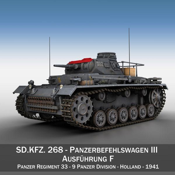 PzBefWg III - Ausf.F - 9 PzDiv 3D Models
