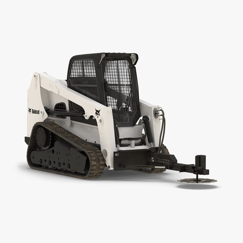 Compact Tracked Loader With Brush Saw 3d model 00.jpg