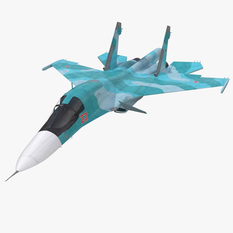 Fighter Sukhoi Su-34 Rigged 3d model 00.jpg