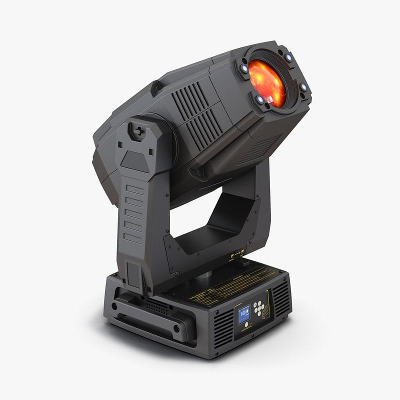 LED Stage Moving Light Generic 3d model 00.jpg