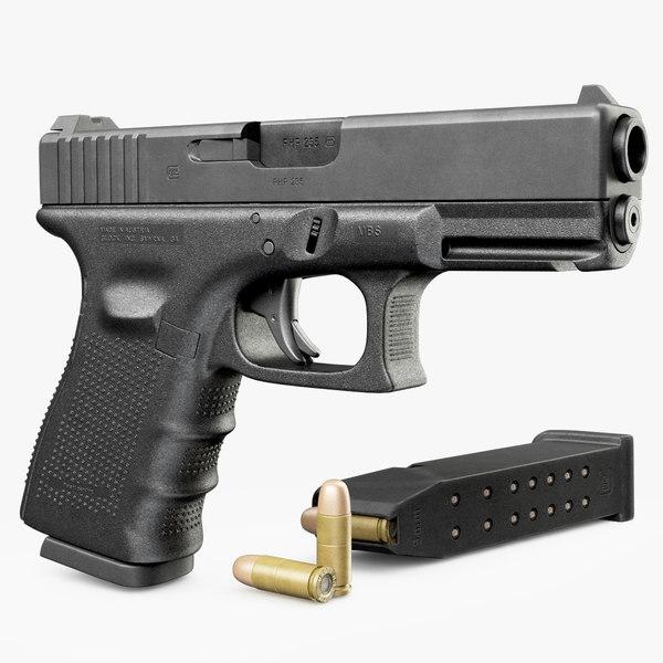 Gun Glock 19 gen4 3D Models