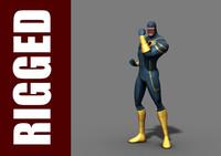 Cyclops superhero 3D models