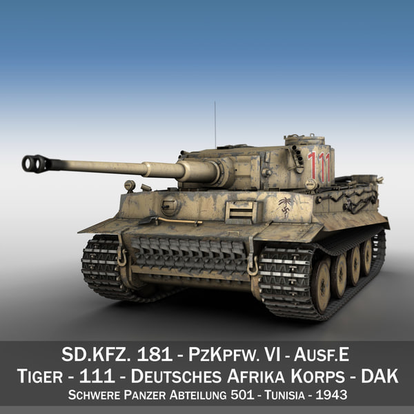 Panzer VI - Tiger - 111 - Early Production 3D Models