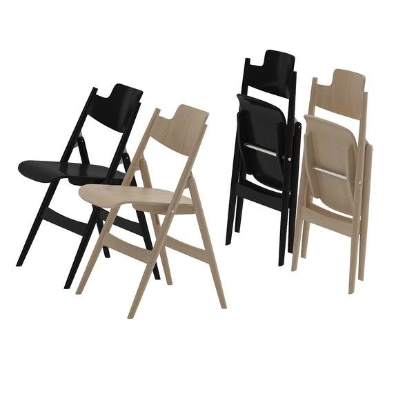 Folding Chair by Egon Eiermann SE18 wilde-spieth 3D Models