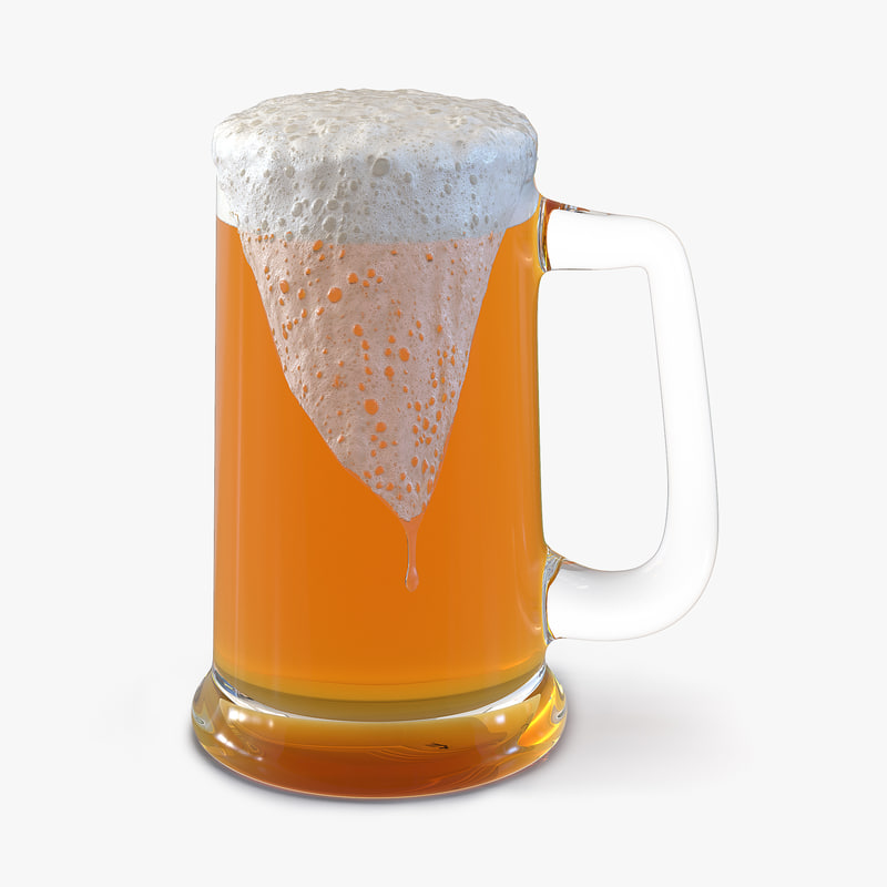 Overflowing Beer Mug 3d model 00.jpg