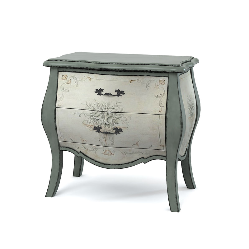 Shabby-Chic Living Room Table with Cream and-Grey Paint  Night Stand 077.jpg