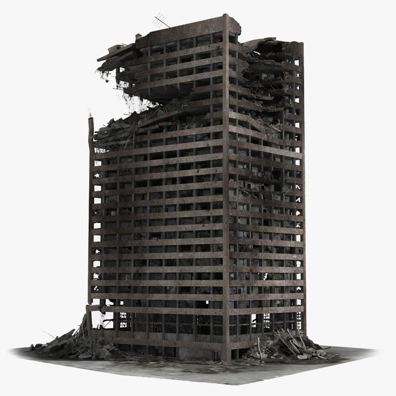 Destroyed building wallpaper