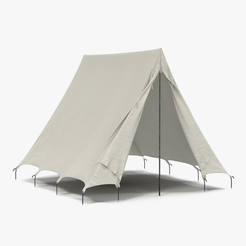 Vintage Camping Tent 3d model 00.jpg