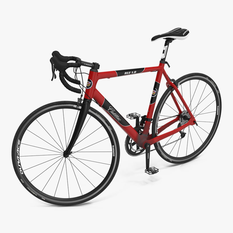 Road Bike Cadillac Rigged 3d model 00.jpg