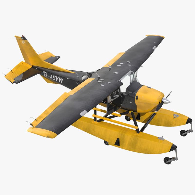 3d model of Cessna 172 Black Seaplane Rigged 00.jpg