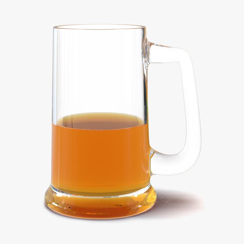 Half Full Beer Mug 3d model 00.jpg