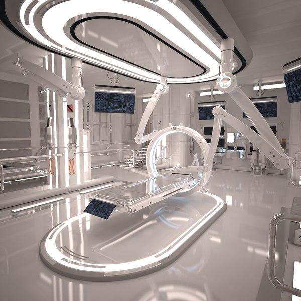 Sci Fi Laboratory Room 3D Models