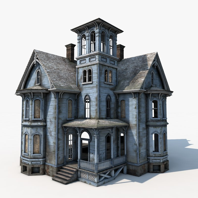 3d model old haunted house House 3d model