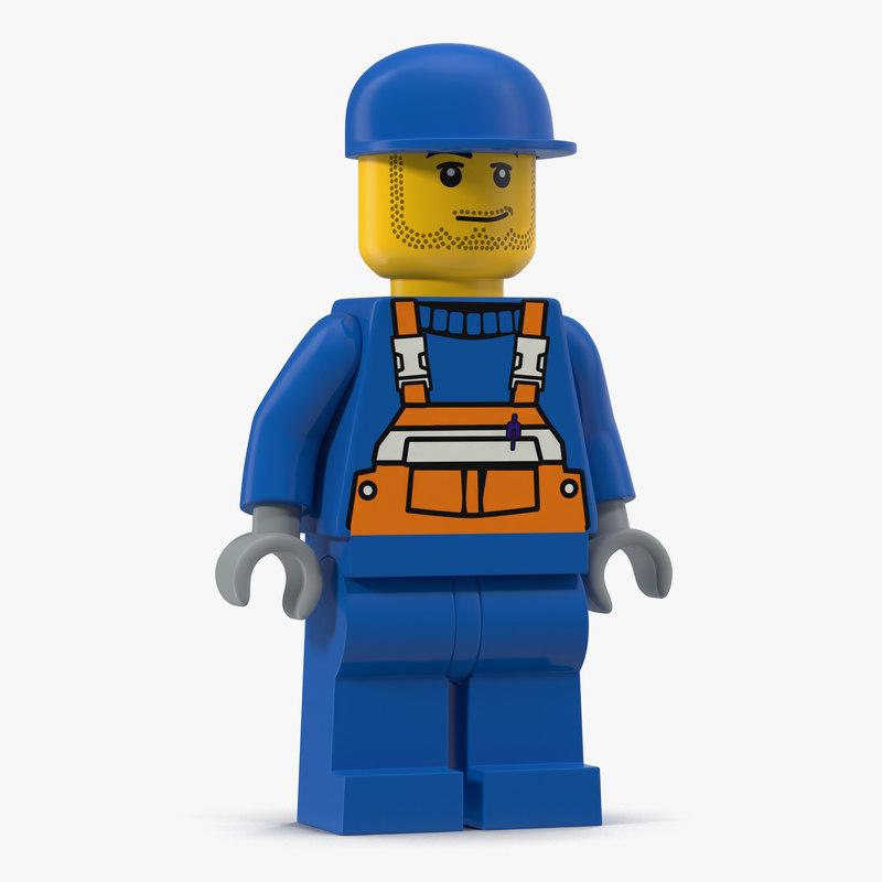 Lego Man Worker Max