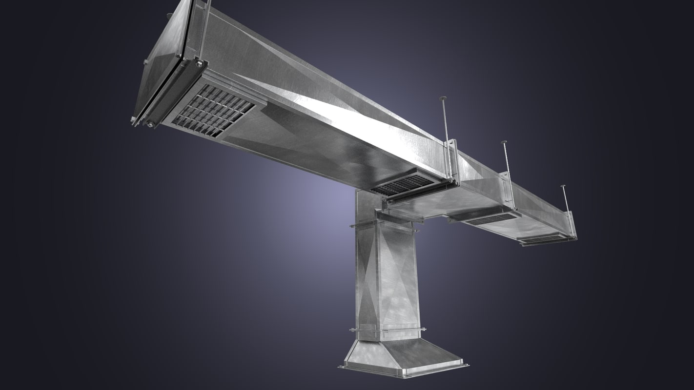 Square Vent Duct : Square air ducts d model