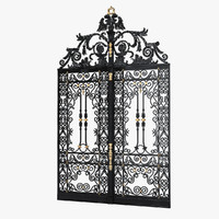 Wrought Iron Fence 3D models