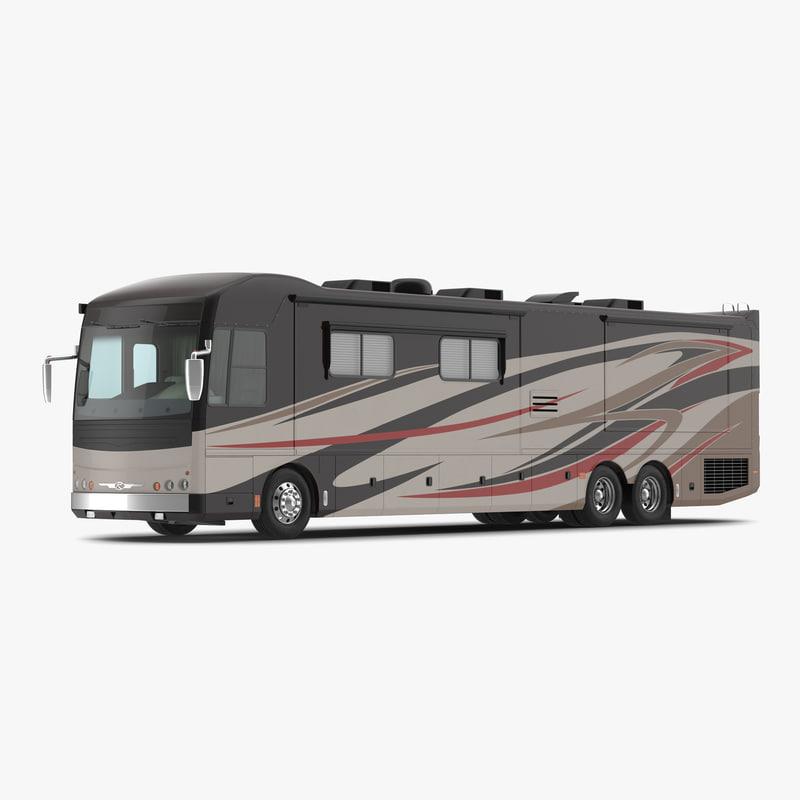 Recreational Vehicle: 3d Model American Recreation Vehicle Rv