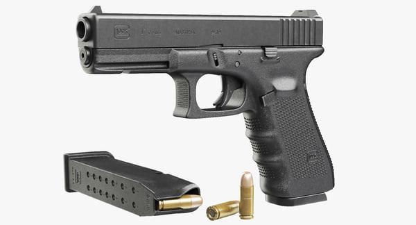 Gun Glock 17 gen4 3D Models
