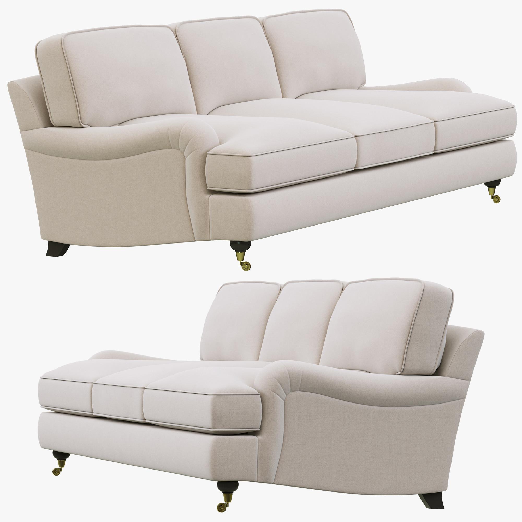 English Roll Arm Sofa: 3d Model Restoration Hardware English Roll