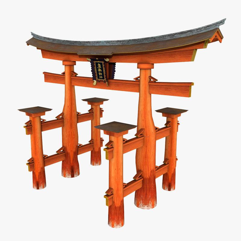 Gate Torii 3d Model