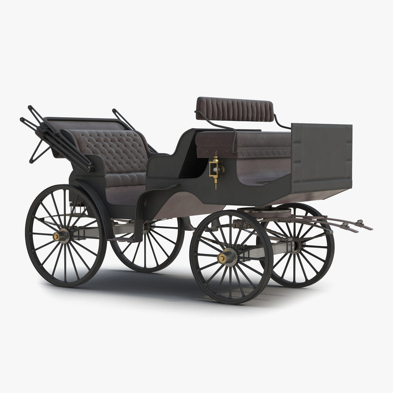 3d carriage car model for Car carriage