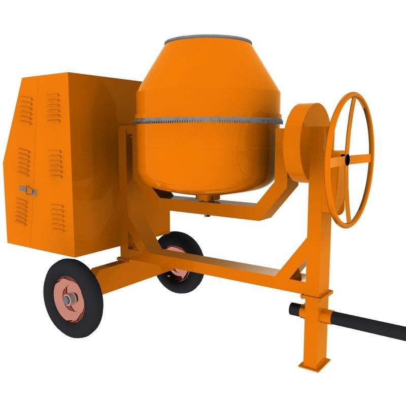 Concrete Mixing Animation : Concrete mixer machine ds