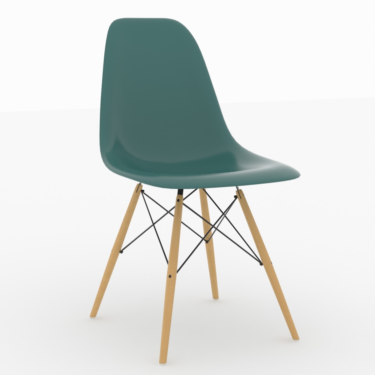 3d replica eames dsw plastic chair for Eames plastic chair replica