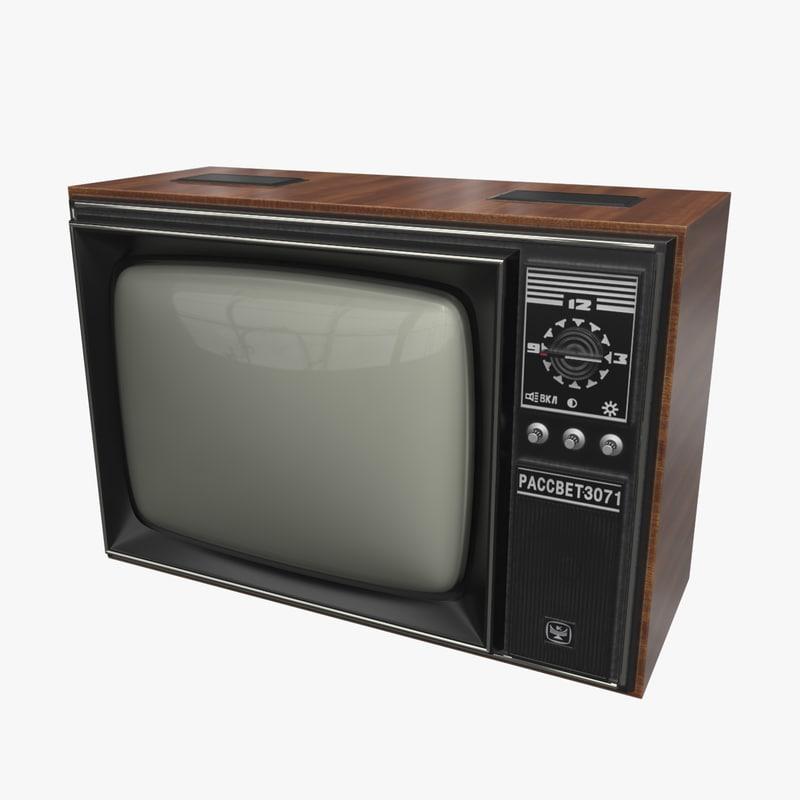3d Old Soviet Tv