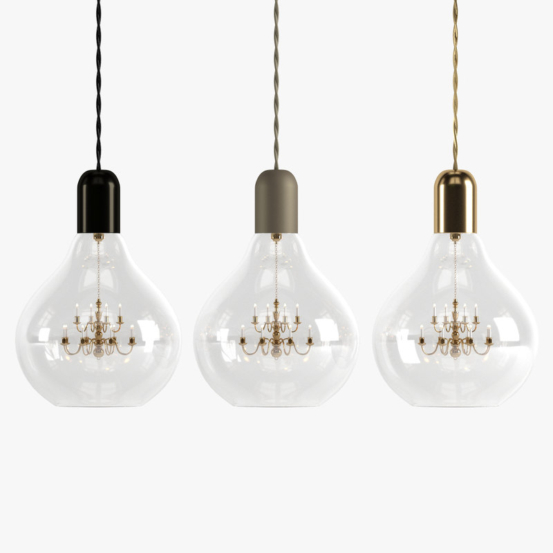 Lightbulb King Edison Pendant Lamp 3d Model