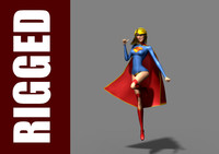 supergirl 3D models
