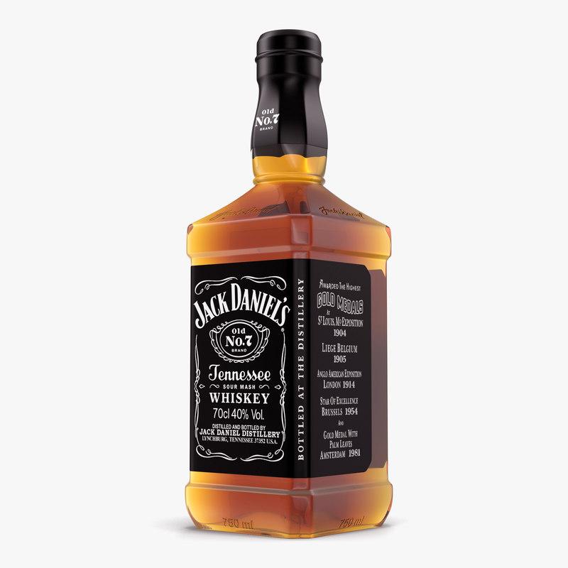 Jack daniels bottle 3d max for Photos jack daniels
