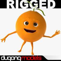 Fruit Character 3D models