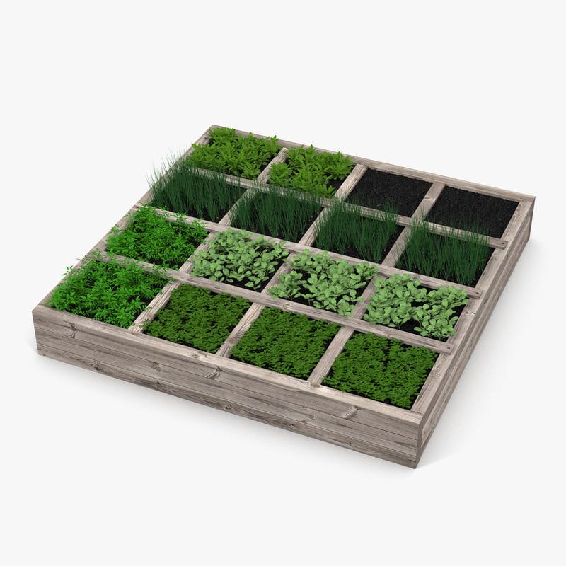 3d Model Vegetable Garden