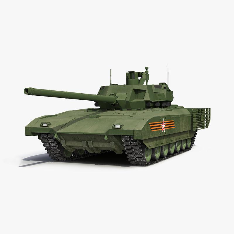 Russian main battle tank d model