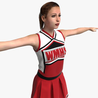 Cheerleader 3D models