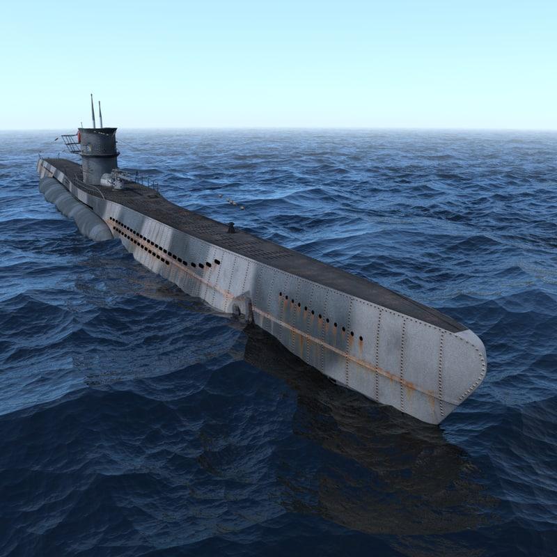 c4d ww2 german u boat