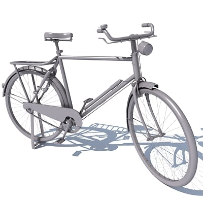 Classic Old Bicycle 3D Models