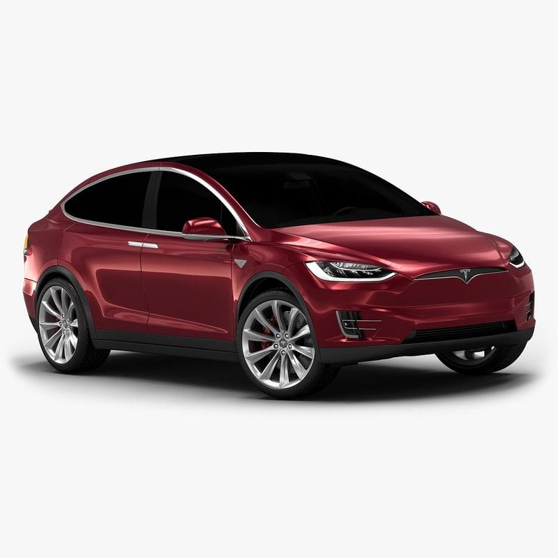 3d Model 2017 Tesla X Interior