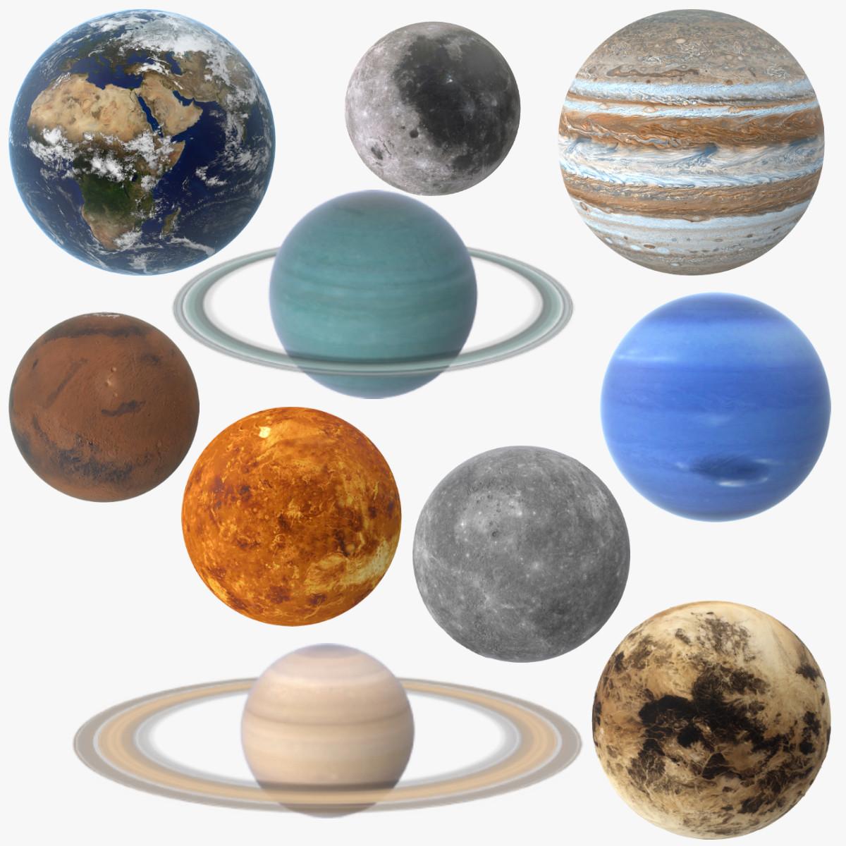 3d solar planets model