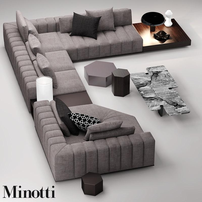 Minotti Freeman Seat 3d Max