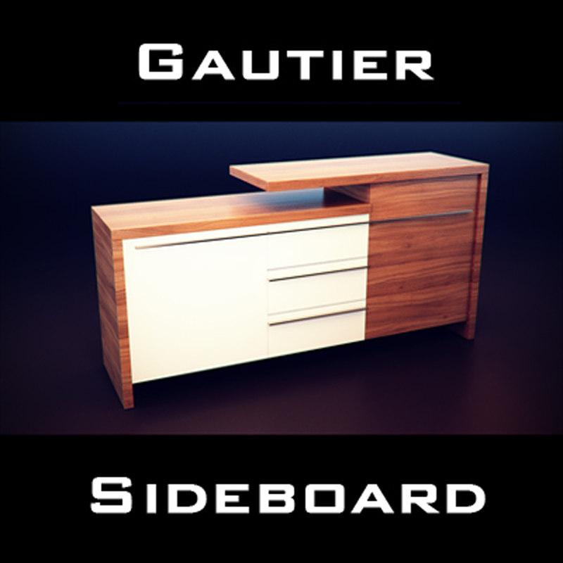 3d model gautier neos sideboard -> Sideboard Tv Möbel