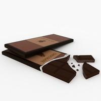 chocolate bar 3D models