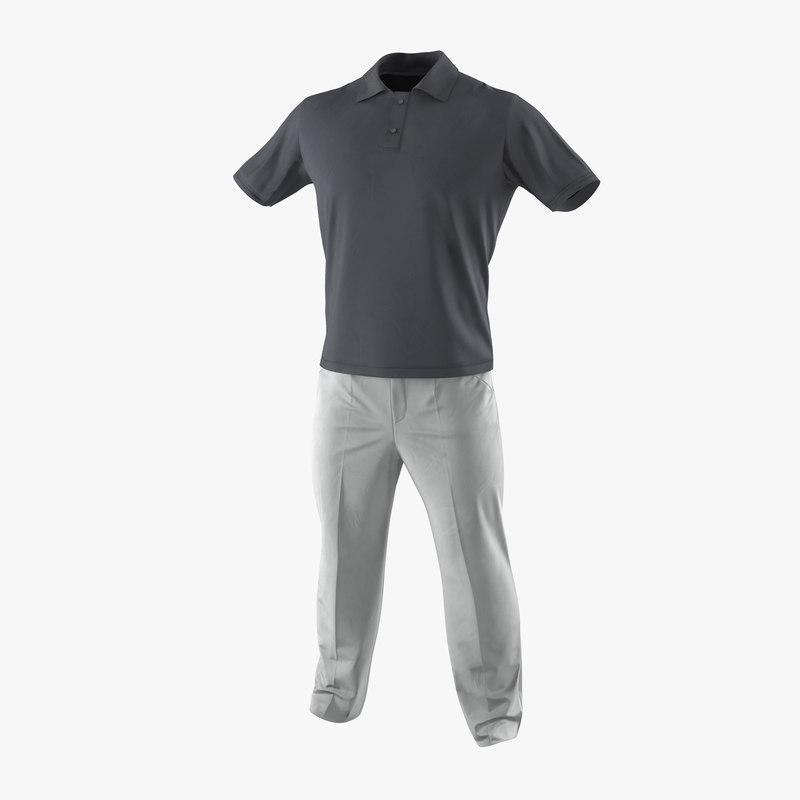 Mens Casual Clothes 3ds 3d model 01.jpg